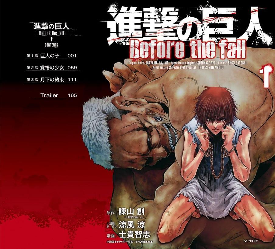 Manga Attack on Titan Before The Fall Memasuki Episode Akhir