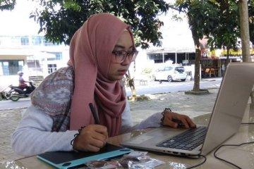 Dari Sebuah Hobi Menggambar Gadis Banjarmasin Hasilkan Jutaan Rupiah