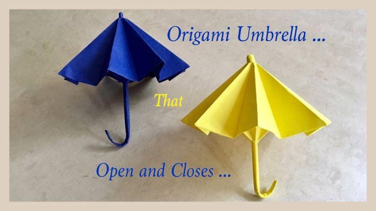 Kerajinan Origami Membuat Lipatan Payung