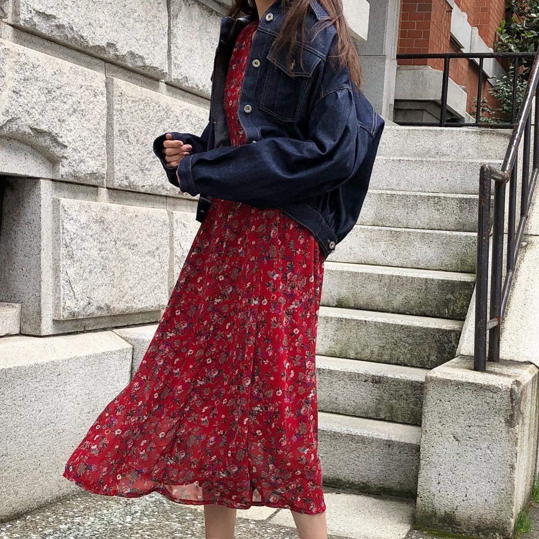 Flower Trend Fashion Jepang 2018 Untuk Wanita