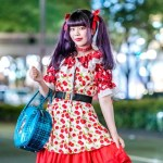 MaiMai Dengan Motif Bunga Merah Punk Cake Harajuku Fashion featured