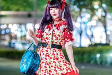 MaiMai Dengan Motif Bunga Merah Punk Cake Harajuku Fashion featured