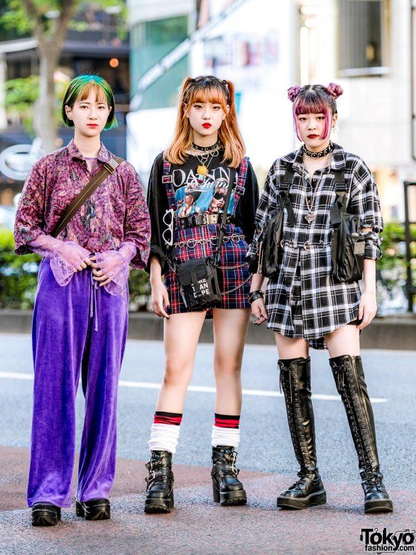 Trio Harajuku Girl Tampil Dengan Mode Edgy Street Style Fashion Jepang featured Image