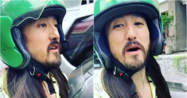 DJ Terkenal Steve Aoki Jadi Viral Setelah Naiki Ojek Online Di Bali Karena Terjebak Macet