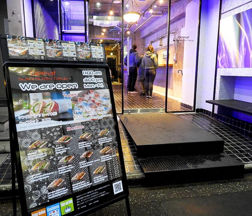 Sushi Lezat Dan Layanan Futuristik Yang Unik Dari Restoran Beeat Sushi Burrito Tokyo !