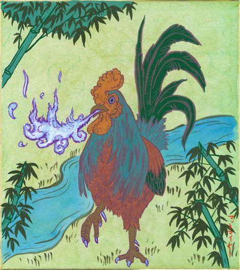 """Legenda Ayam """"Basan"""" Dari Pegunungan Ehime Yang Dapat Menghembuskan Nafas Api !"""