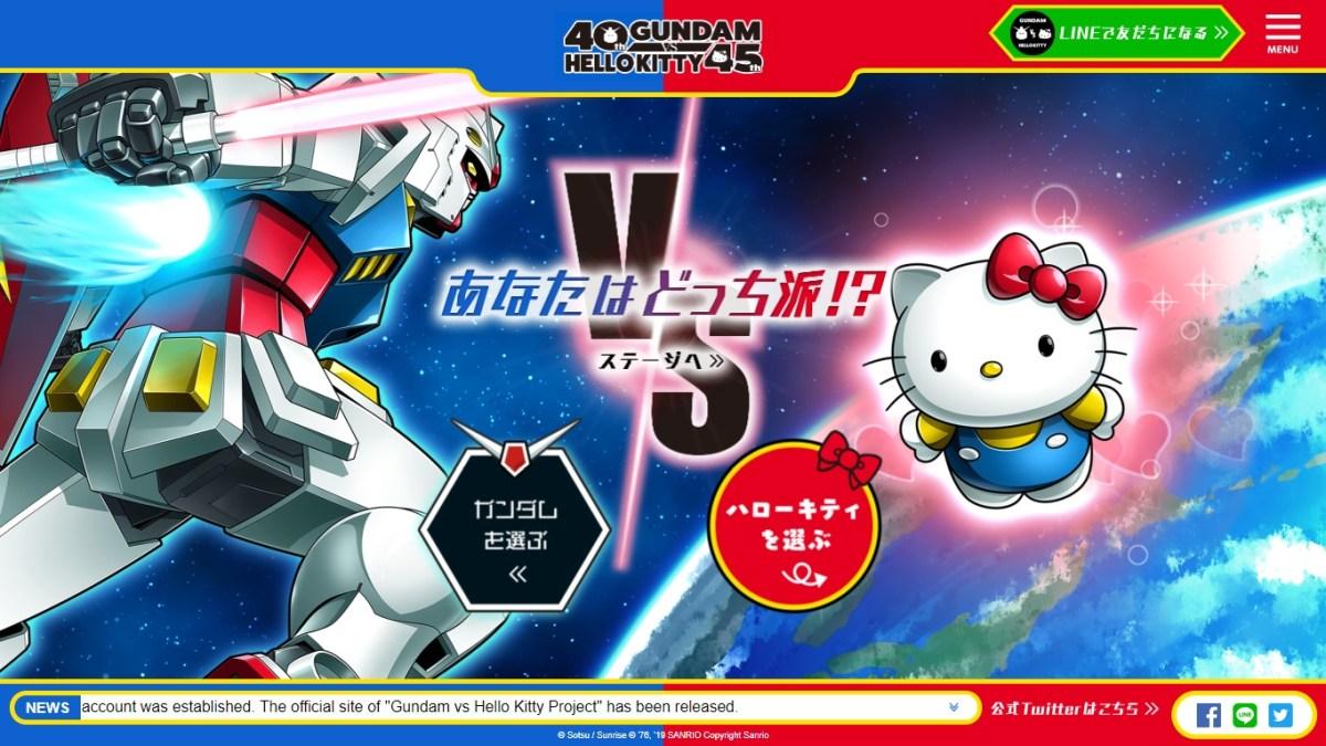 Kolaborasi Unik Dalam Dunia Animasi, Mobile Suit Gundam Melawan Hello Kitty !