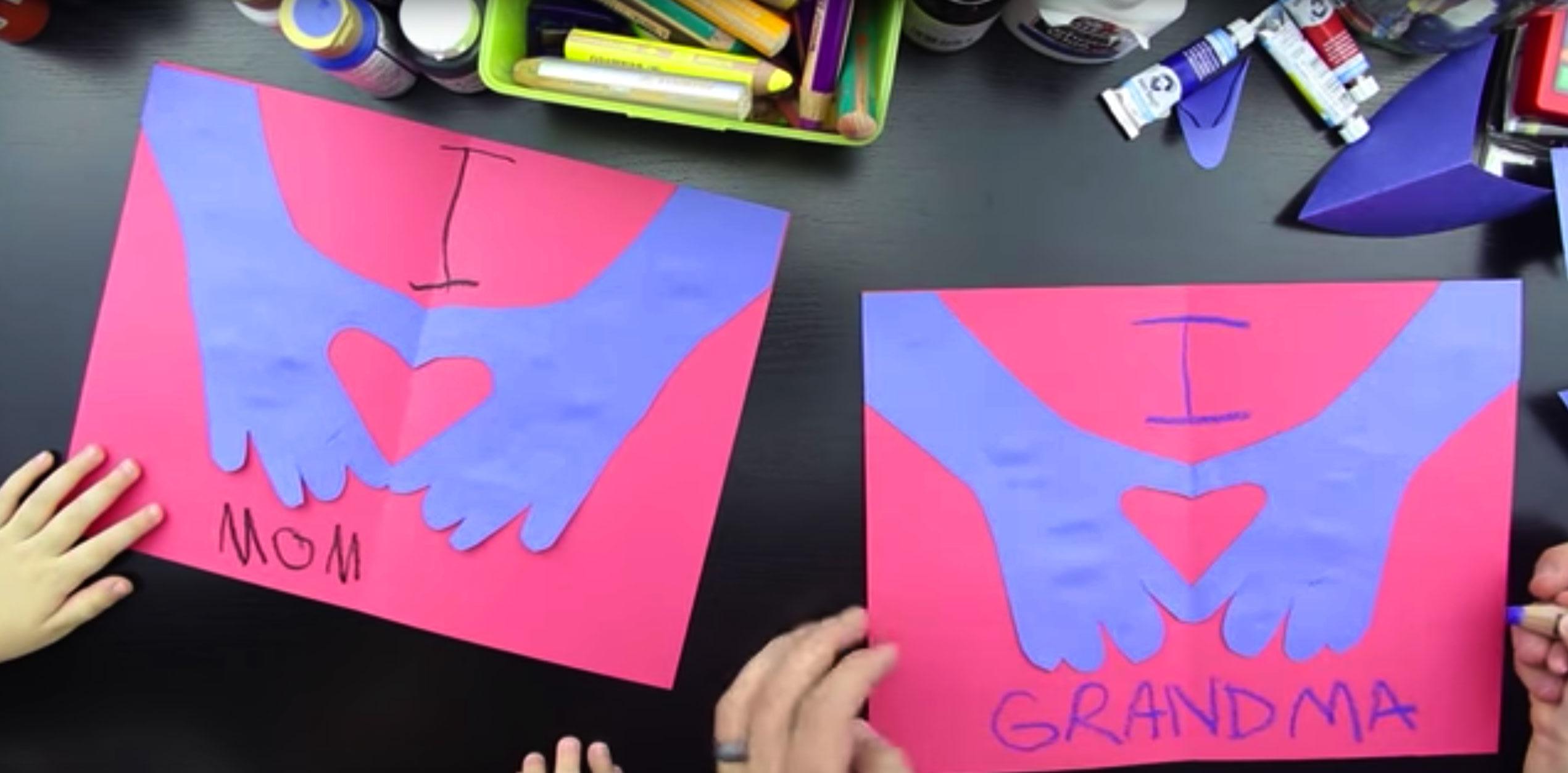 Super Easy Valentines Card For Kids Art For Kids Hub