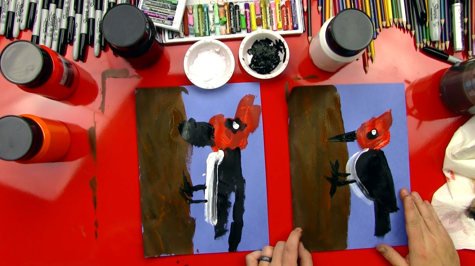 How To Paint A Woodpecker For Young Artists