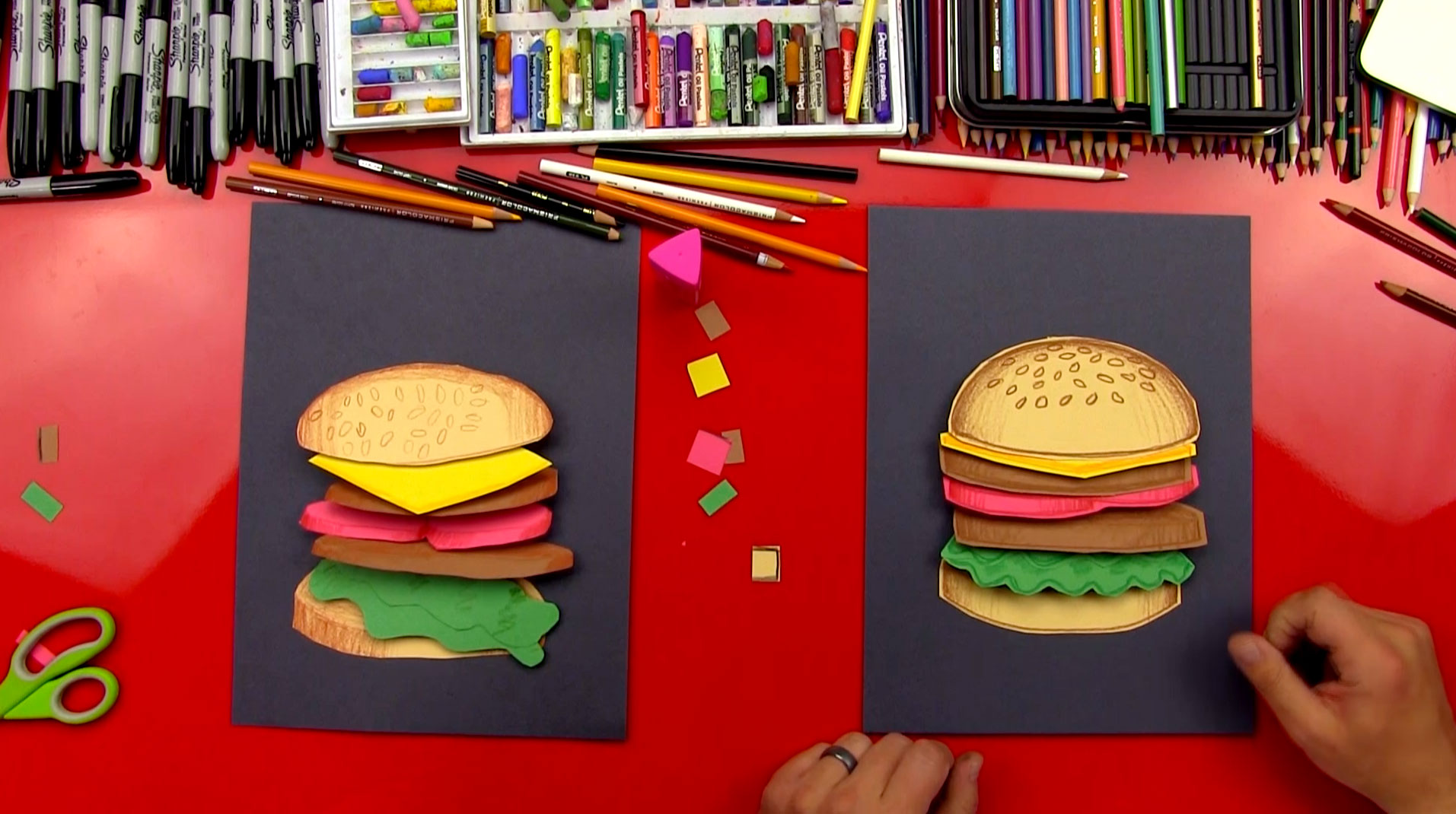 How To Make A Hamburger Cutout