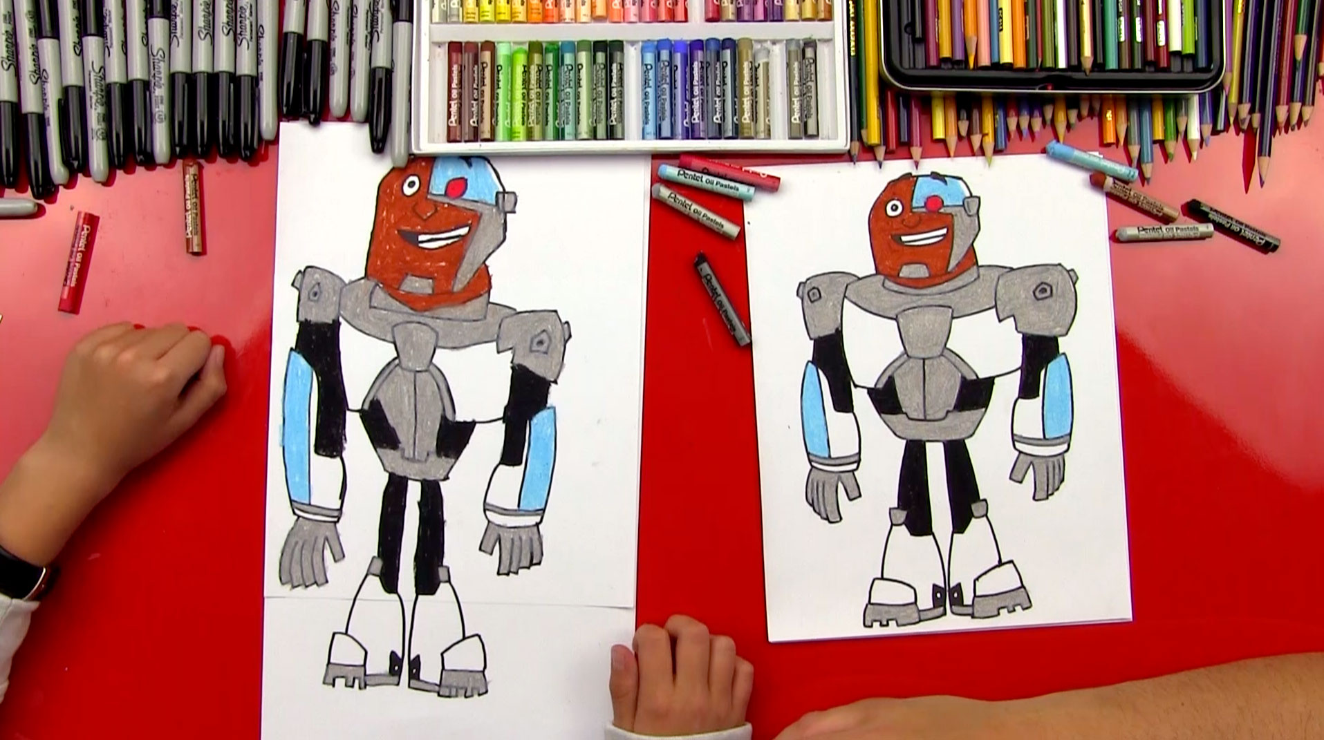 How To Draw Cyborg From Teen Titans Go Art For Kids Hub