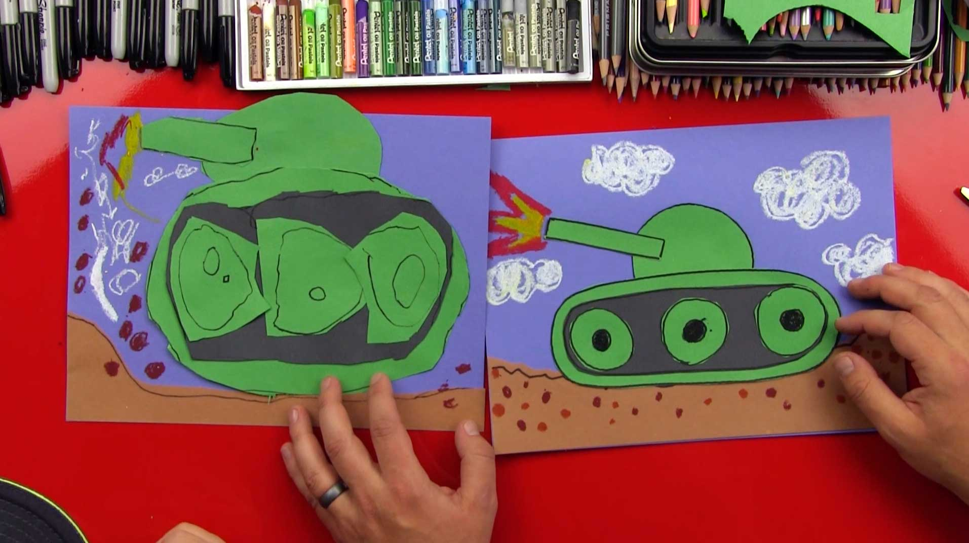 How To Draw A Tank For Young Artists Art For Kids Hub