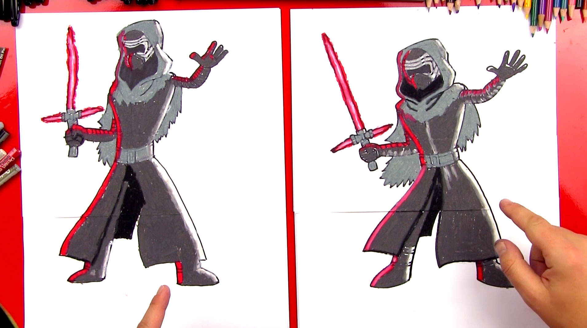 See family drawing stock video clips. How To Draw Kylo Ren From Star Wars - Art For Kids Hub