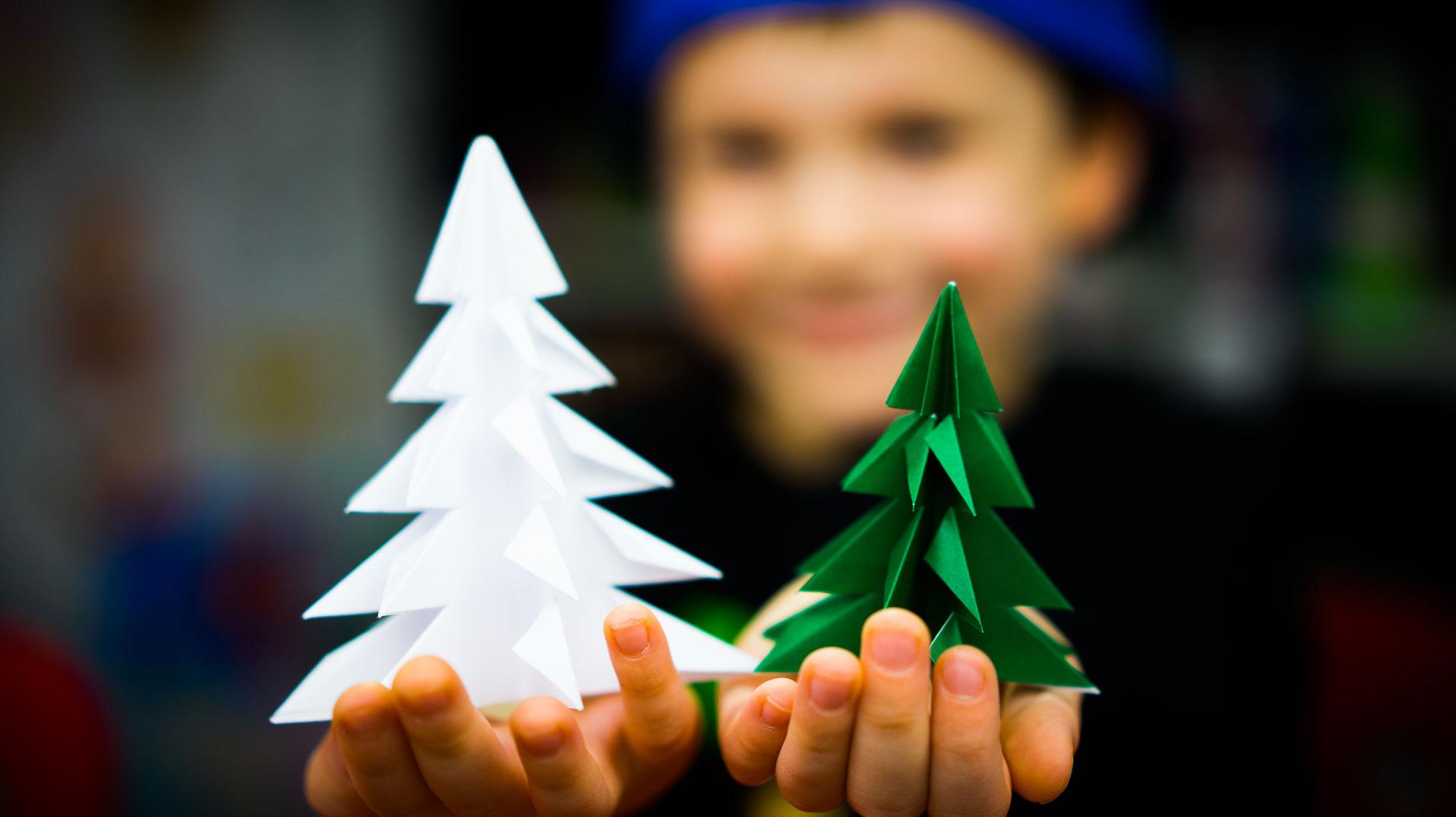 How To Fold An Origami Christmas Tree Art For Kids Hub
