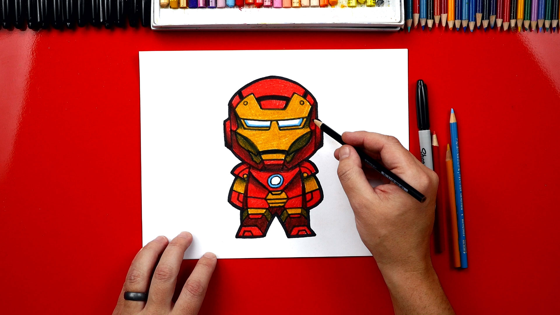 Vector illustration family drawing stock illustrations. How To Draw Iron Man - Art For Kids Hub