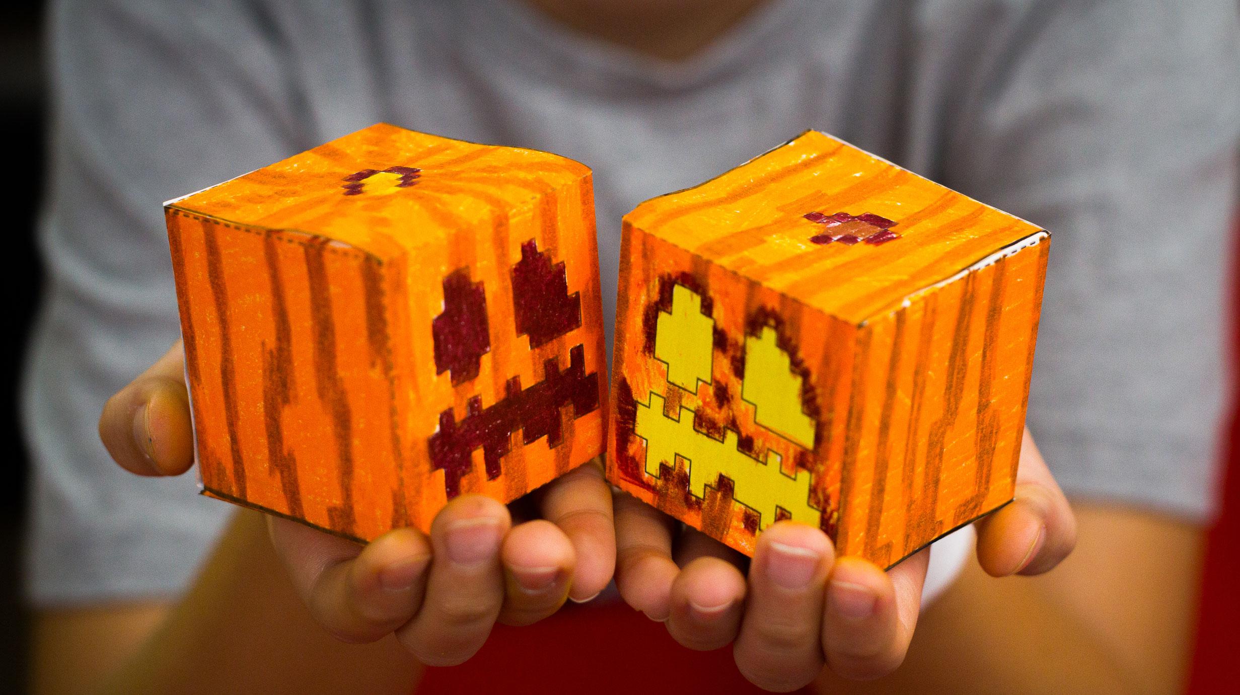 How To Make A Minecraft Pumpkin Cutout