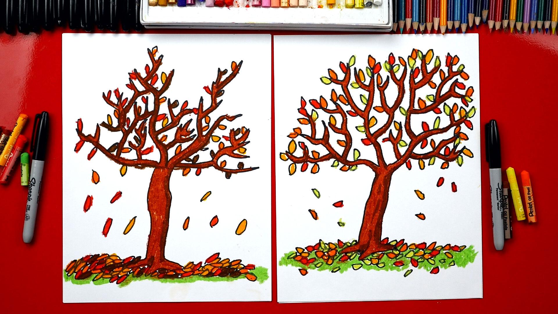 The editors of publications international, ltd. How To Draw A Fall Tree - Art For Kids Hub