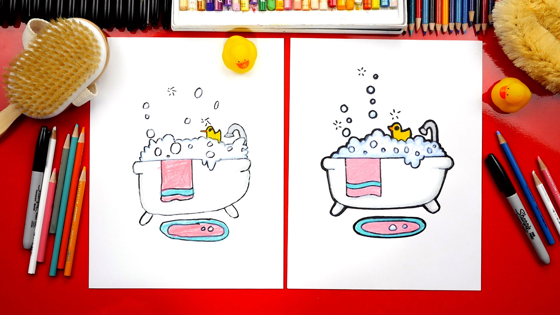 How To Draw A Bubble Bath Art For Kids Hub