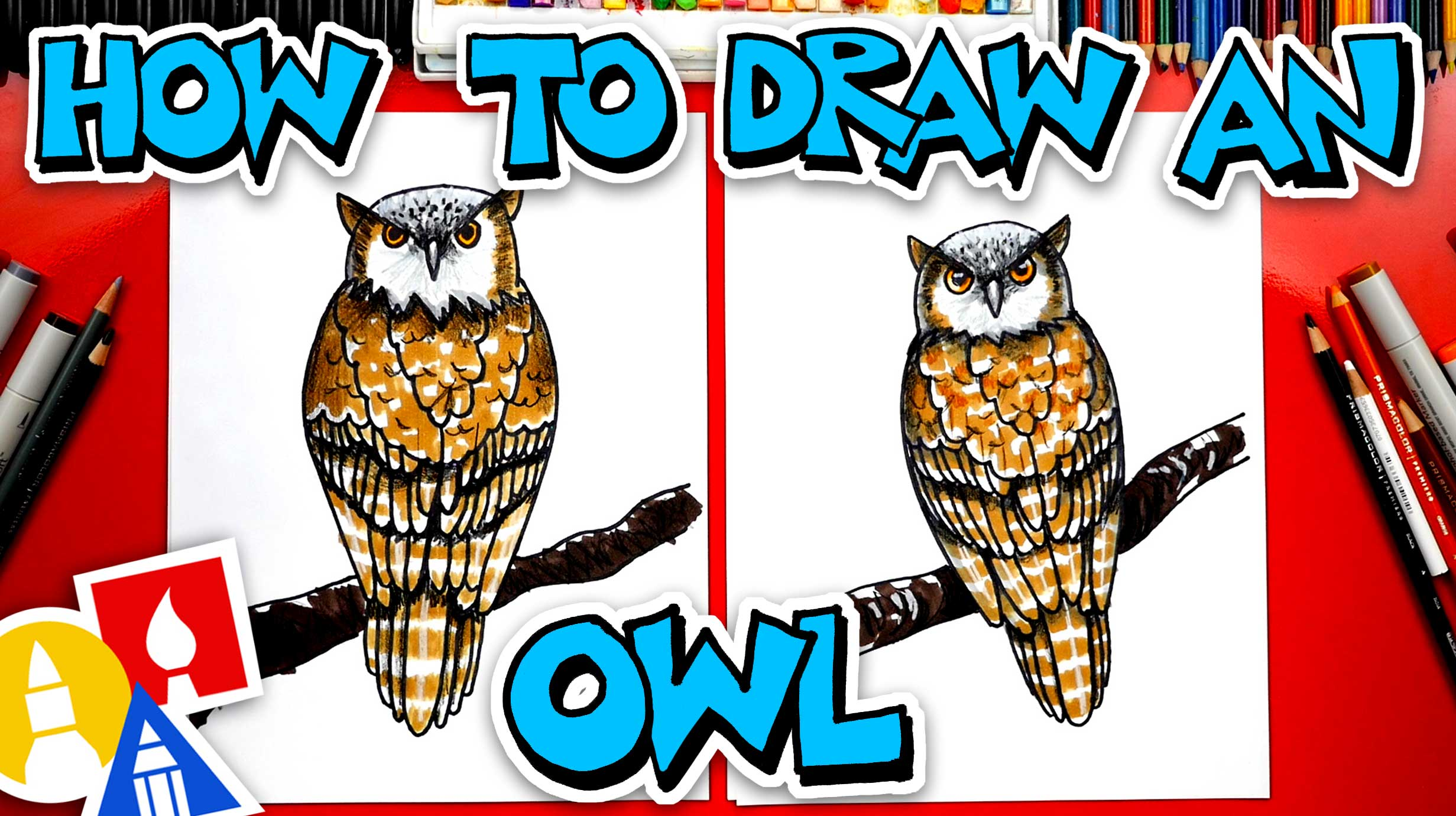 Owl Drawing Images For Kids