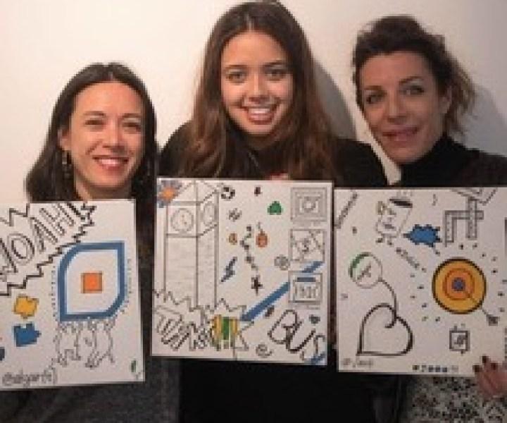 Atelier fresque collective aux couleurs de l'entreprise