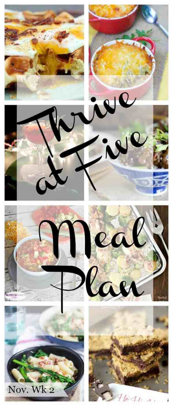 thrive at five meal plan november week 2