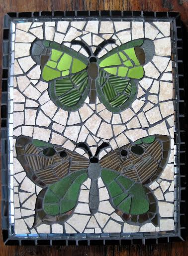 butterfly duo mosaic