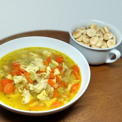 Quick Chicken Rice Soup