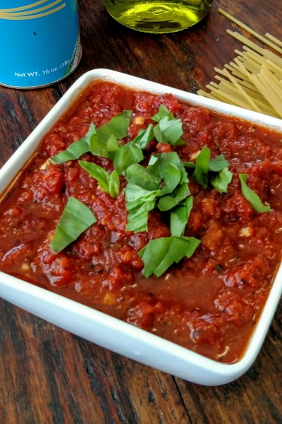 Quick Fire Roasted Tomato Sauce