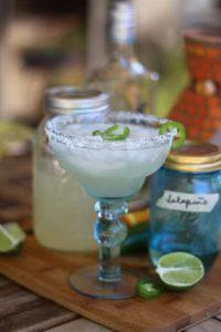 Jalapeno Margaritas with Jalapeno Simple Syrup | www.artfuldishes.com