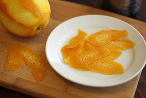 orange peel for syrup