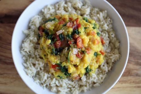 Spiced Lentils with Cumin Scented Rice