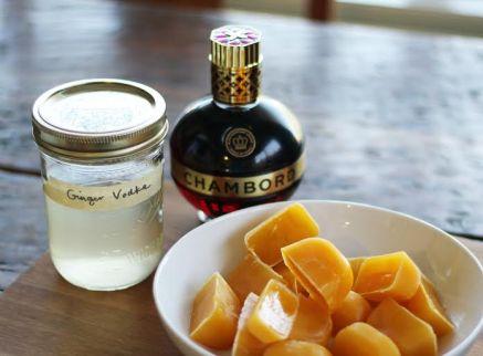 Ginger Peach Grown Up Slushie Ingredients