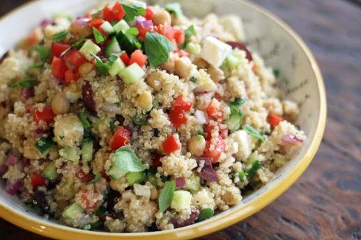 Mediterranean Quinoa Salad with Chickpeas Artful Dishes