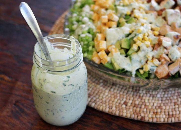 Avocado Ranch Dressing with Cobb Salad
