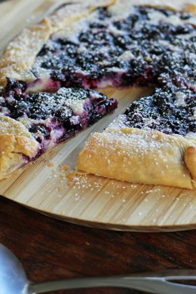 Blueberry Cheesecake Crostada