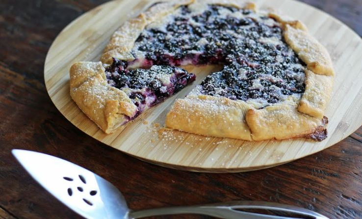 Blueberry Cheesecake Crostada | artfuldishes.com
