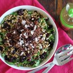 Simple Quinoa Side Salad with Balsamic Vinaigrette | www.artfuldishes.com