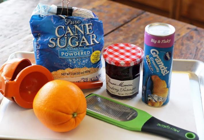 Ingredients for the Raspberry Orange Pastry Ring | artfuldishes.com