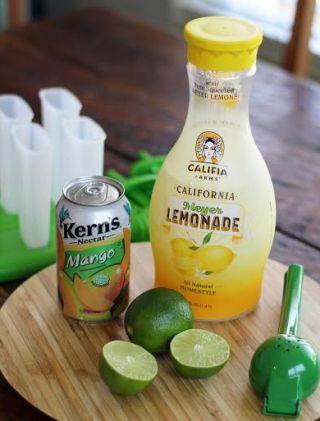 Mango Lemonade Popsicle Ingredients