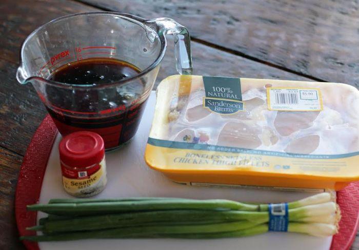 Grilled Teriyaki Chicken Ingredients