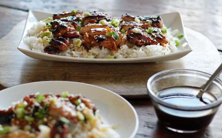 Grilled Teriyaki Chicken with Extra Sauce
