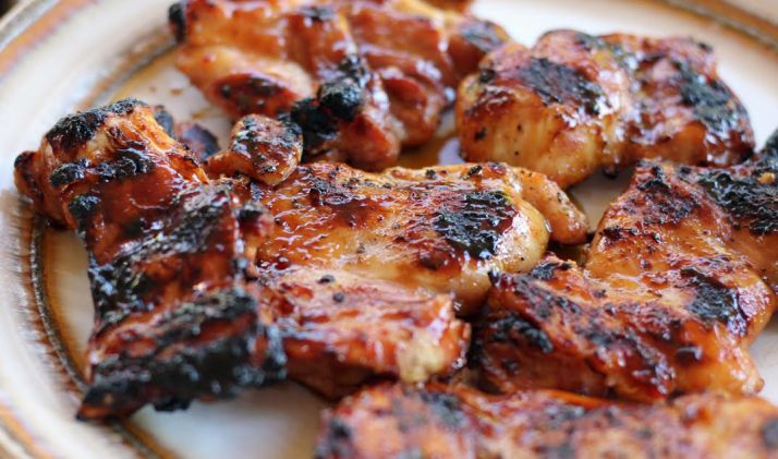 Grilled Teriyaki Chicken fresh off the Grill