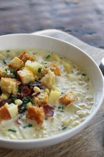Grandma's Corn Chowder with Potatoes and Bacon