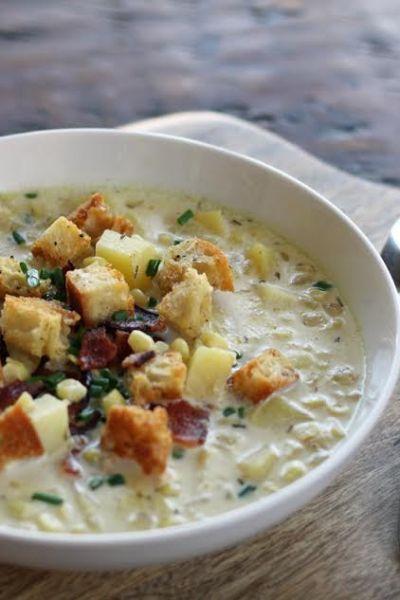 Grandma's Corn Chowder with Potatoes and Bacon