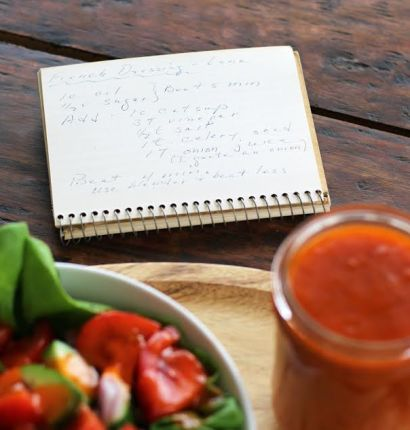 Grandma's Hand Written Recipe for French Dressing Artful Dishes