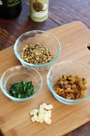 Toppings for Roasted Cauliflower with Pistachios and Raisins Artful Dishes