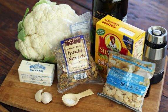 Roasted Cauliflower with Pistachios and Raisins Ingredients