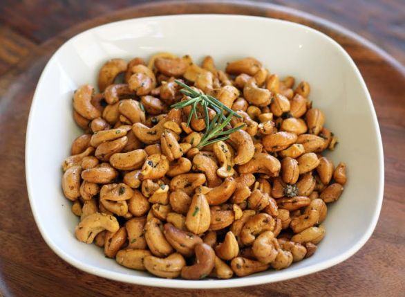 A Bowl of Smokey Rosemary Cashews Artful Dishes