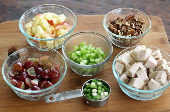 Turkey Waldorf Chopped Salad Ingredients Artful Dishes