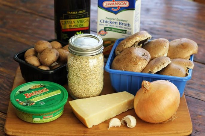 Ingredients for Pesto Quinoa with Roasted Mushrooms Artful Dishes